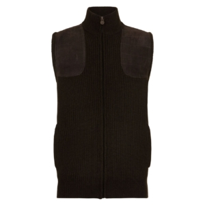 Bernard Weatherill Zip T Lodenhrough Knit Shooting Gilet