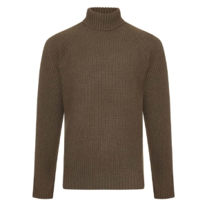 Bernard Weatherill Turtle Neck Shooting Knit Green Thyme