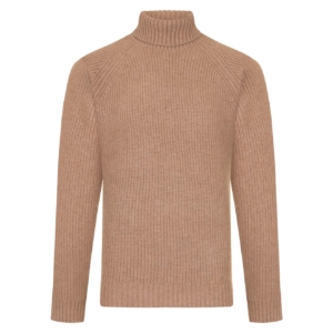 Bernard Weatherill Turtle Neck Shooting Knit Oatmeal