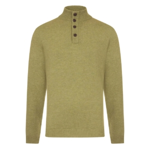 Bernard Weatherill Button Neck Knit Sage