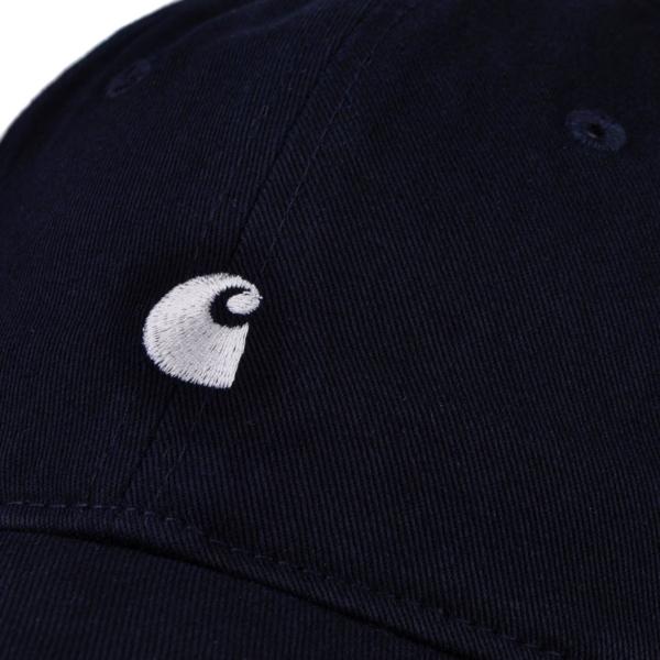 Carhartt madison logo cap twill dark navy wax
