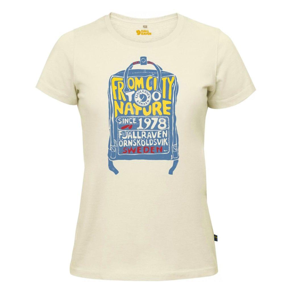 Fjallraven womens Kanken T-Shirt Eggshell
