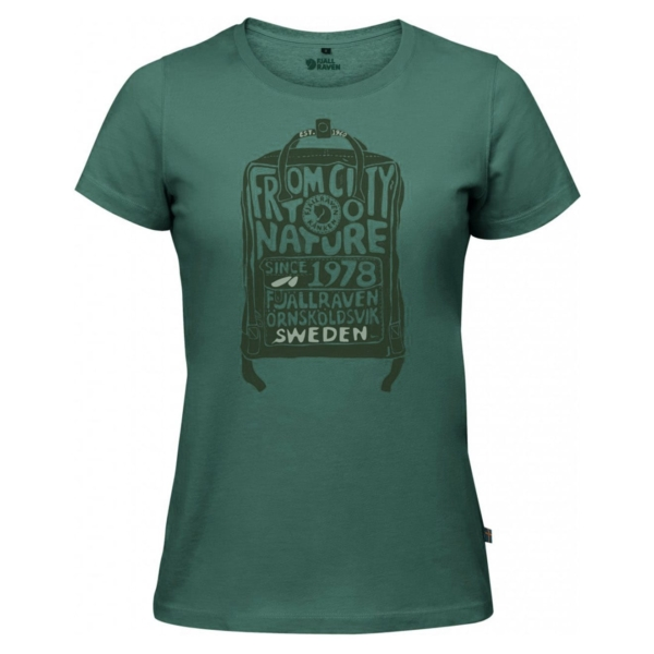 Fjallraven Womens Kanken T-Shirt Frost Green