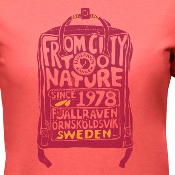 Fjallraven Womens Kanken T-Shirt Pink Peach