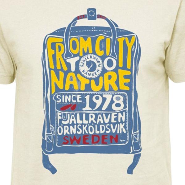 Fjallraven Kanken T-Shirt Eggshell