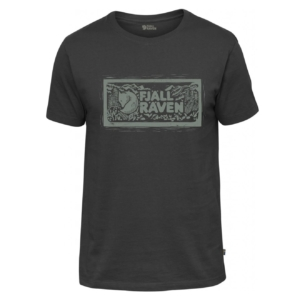 Fjallraven Logo Stamp T-Shirt Dark Grey