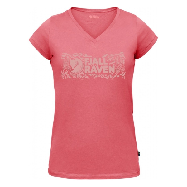 Fjallraven Womens Logo Stamp T-Shirt Peach Pink