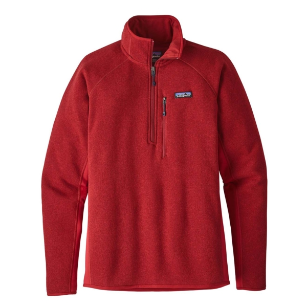 Patagonia better sweater 1 4 zip fleece classic red