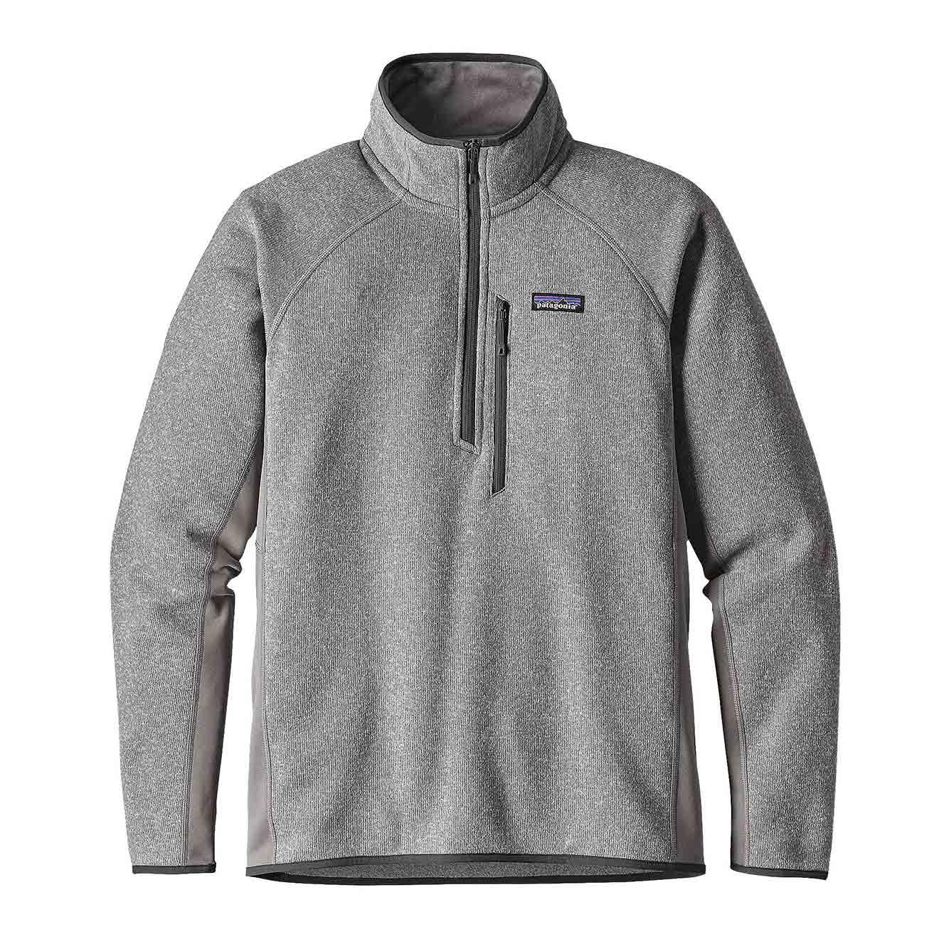 Patagonia Performance Better Sweater 1/4 Zip Fleece Feather Grey