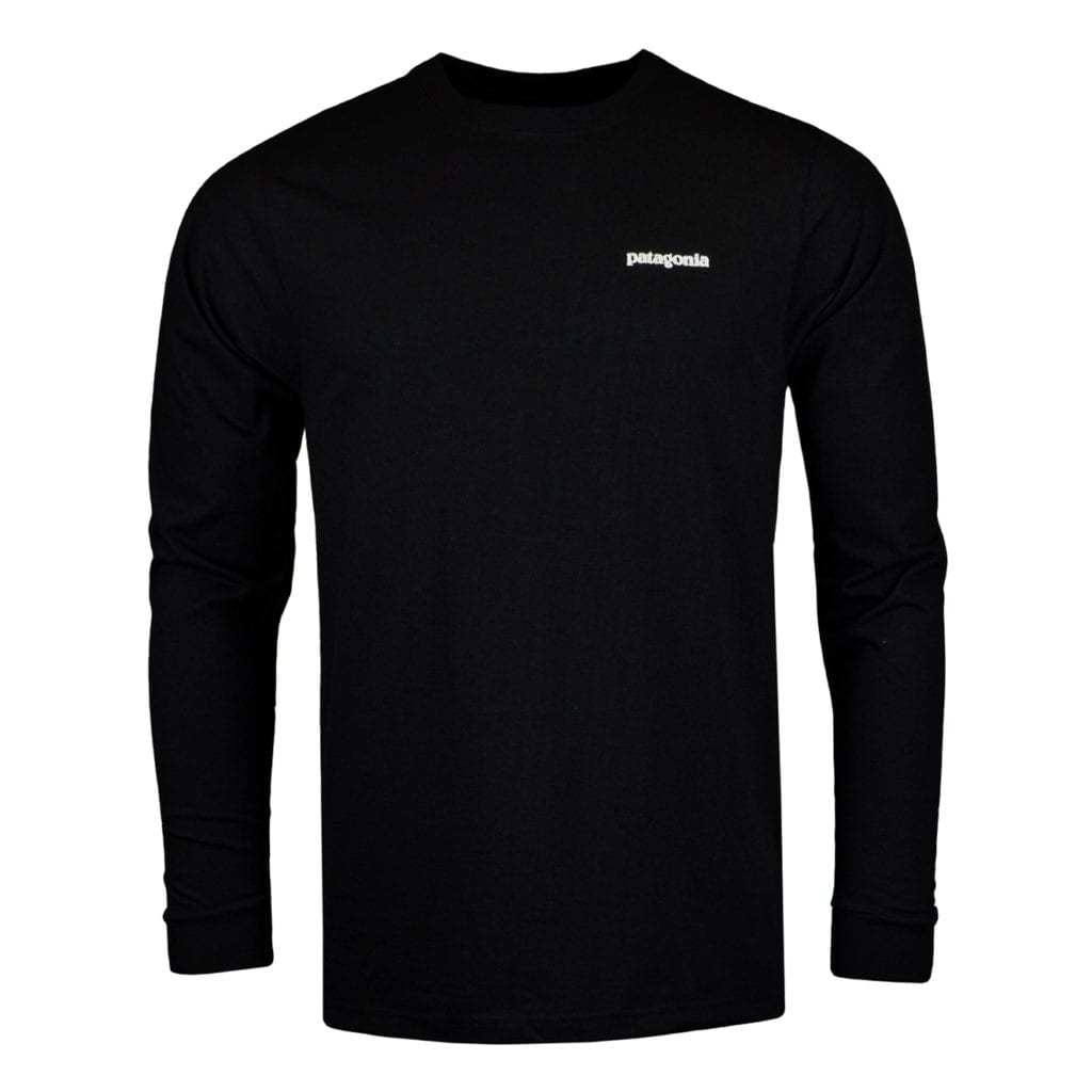 Patagonia long sleeve P6 logo responsibili Tee black