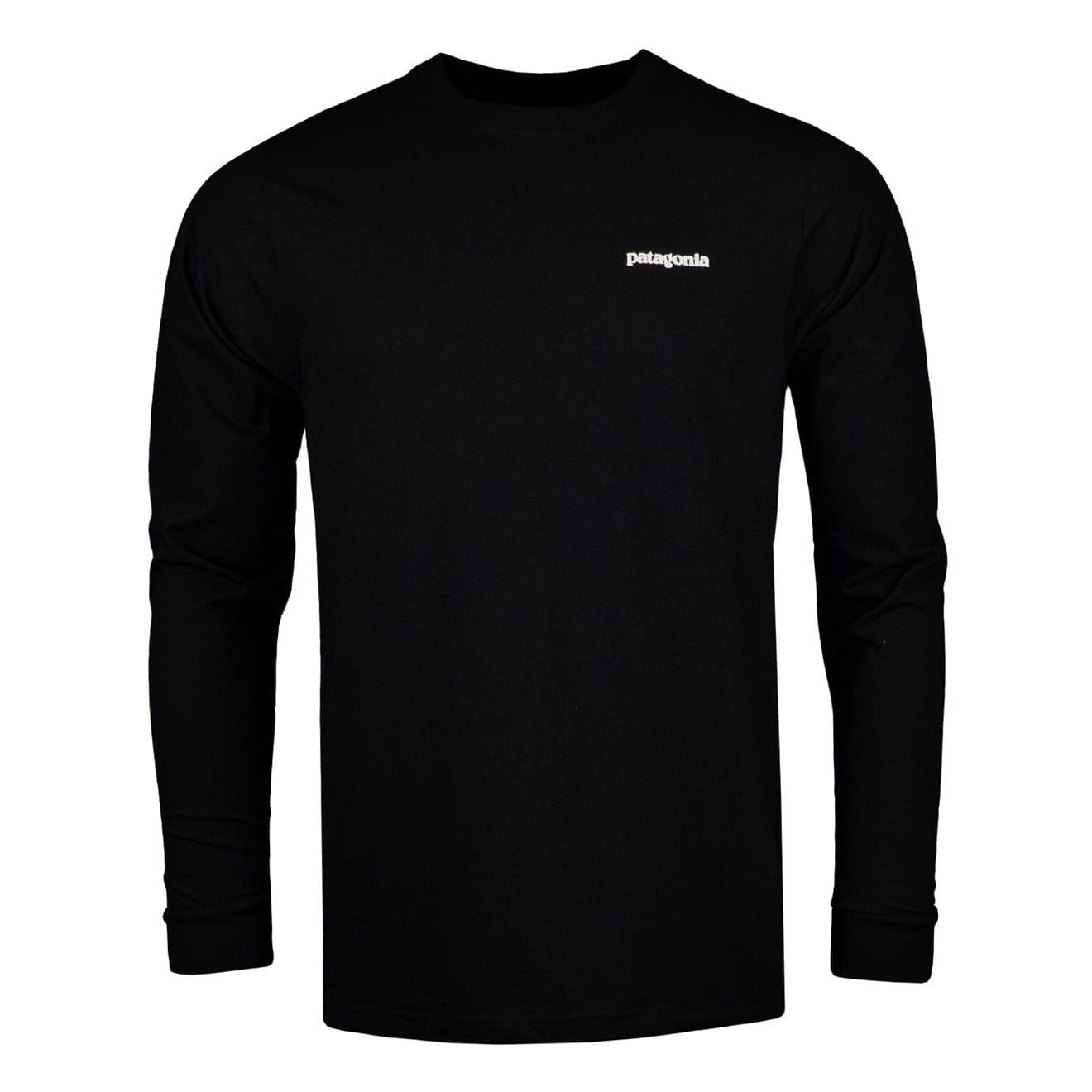 f9f7604f962d Details about Patagonia Long Sleeve P-6 Logo Responsibili-Tee Black
