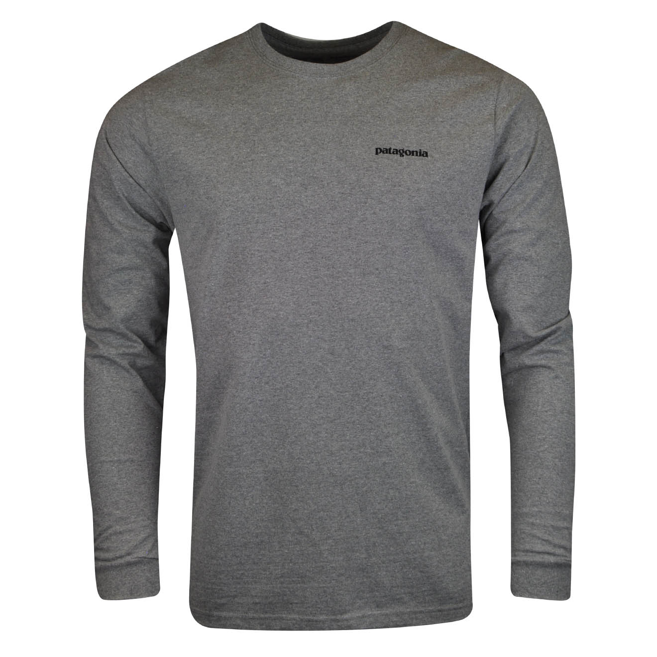 05add1c73441 Details about Patagonia Long Sleeve P-6 Logo Responsibili-Tee Gravel Heather