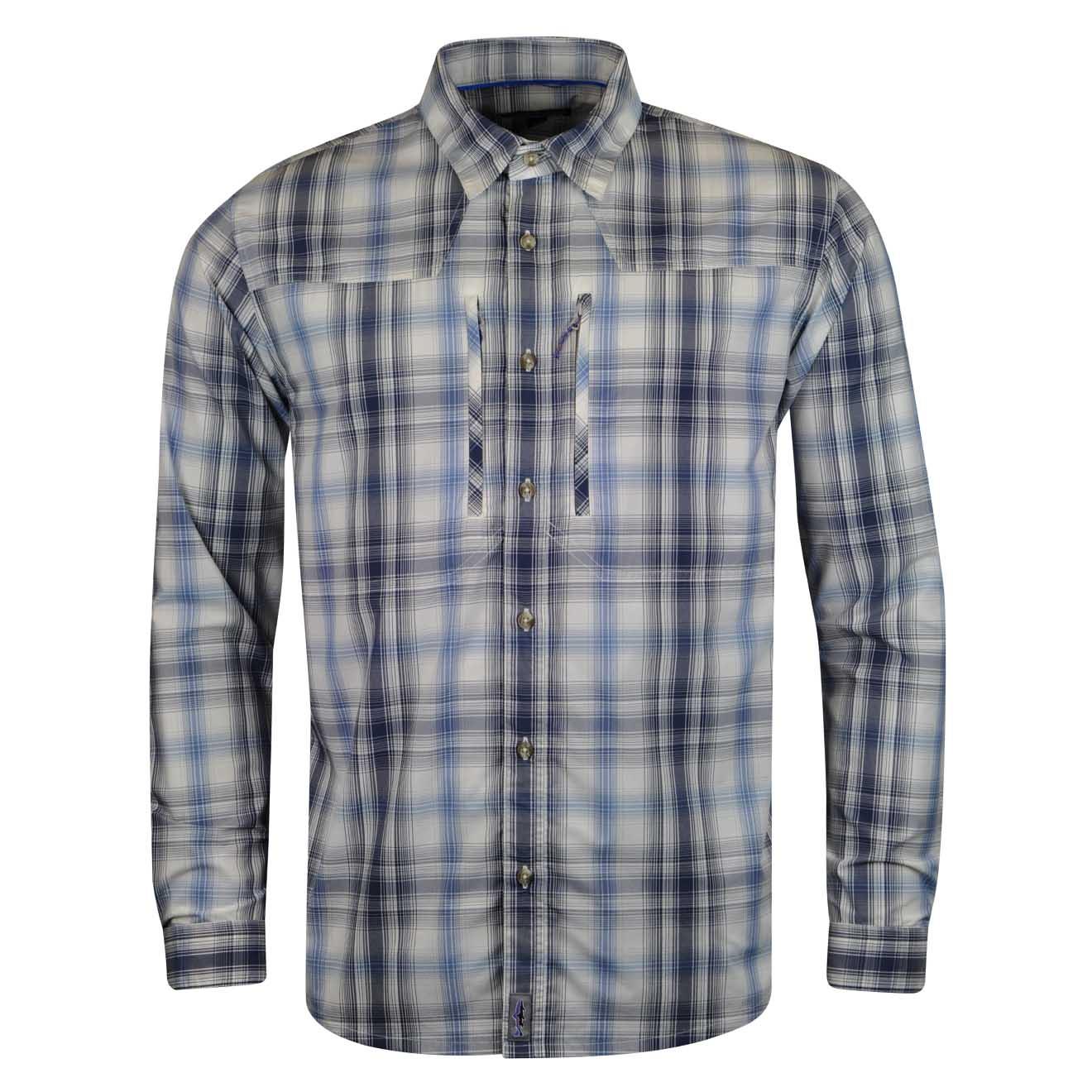 Patagonia long sleeve sun stretch shirt kind swing radar blue