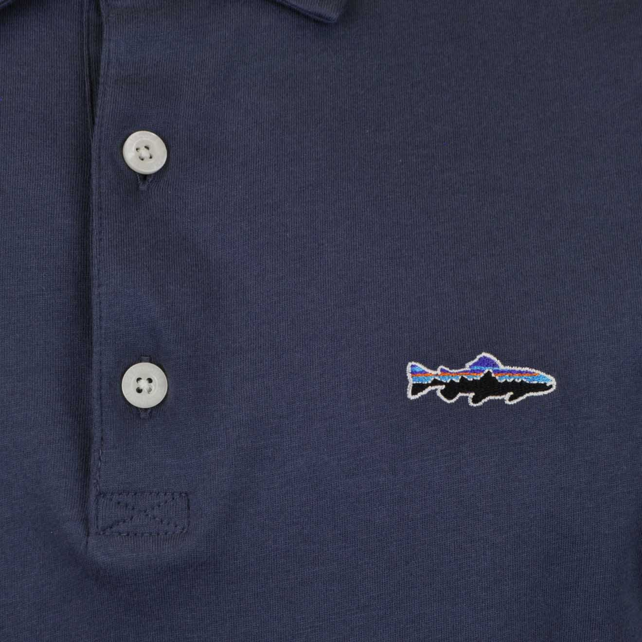 006eb738 Patagonia Trout Fitz Roy Polo Dolomite Blue - The Sporting Lodge