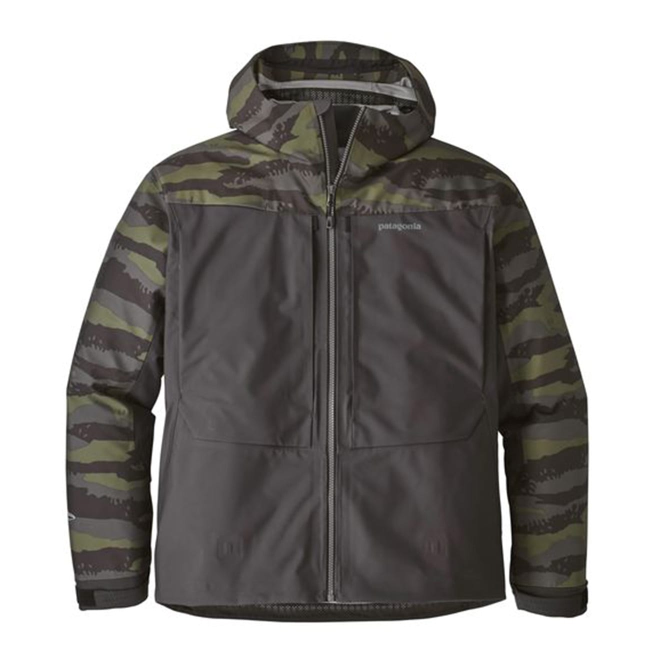 Patagonia river salt jacket rock camo ink black