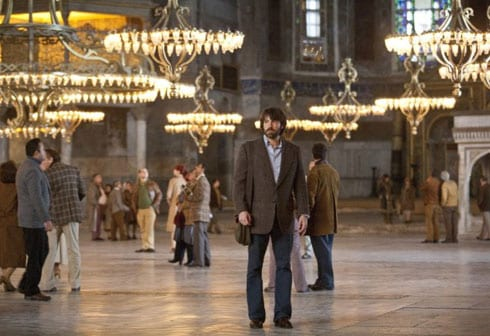 Ben Affleck in Argo under the Chandeliers in Hagia Sophia, Istanbul.