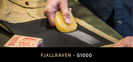 Using Greenland Wax to protect G-1000 Fjallraven Clothing