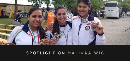 Malikaa Wig and the Medal Winning Trap Shooting Team