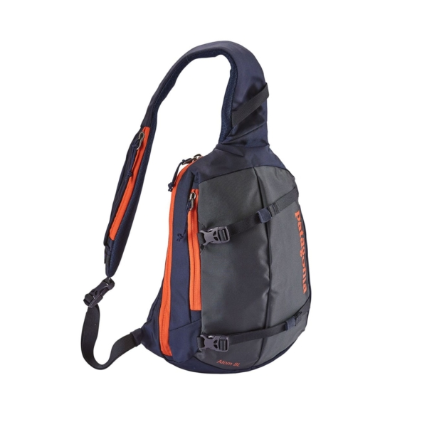 patagonia atom sling backpack 8L smoulder blue