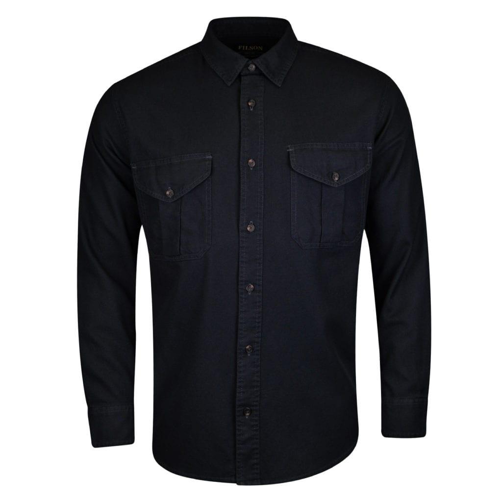 Filson lightweight alaskan guide shirt midnight navy