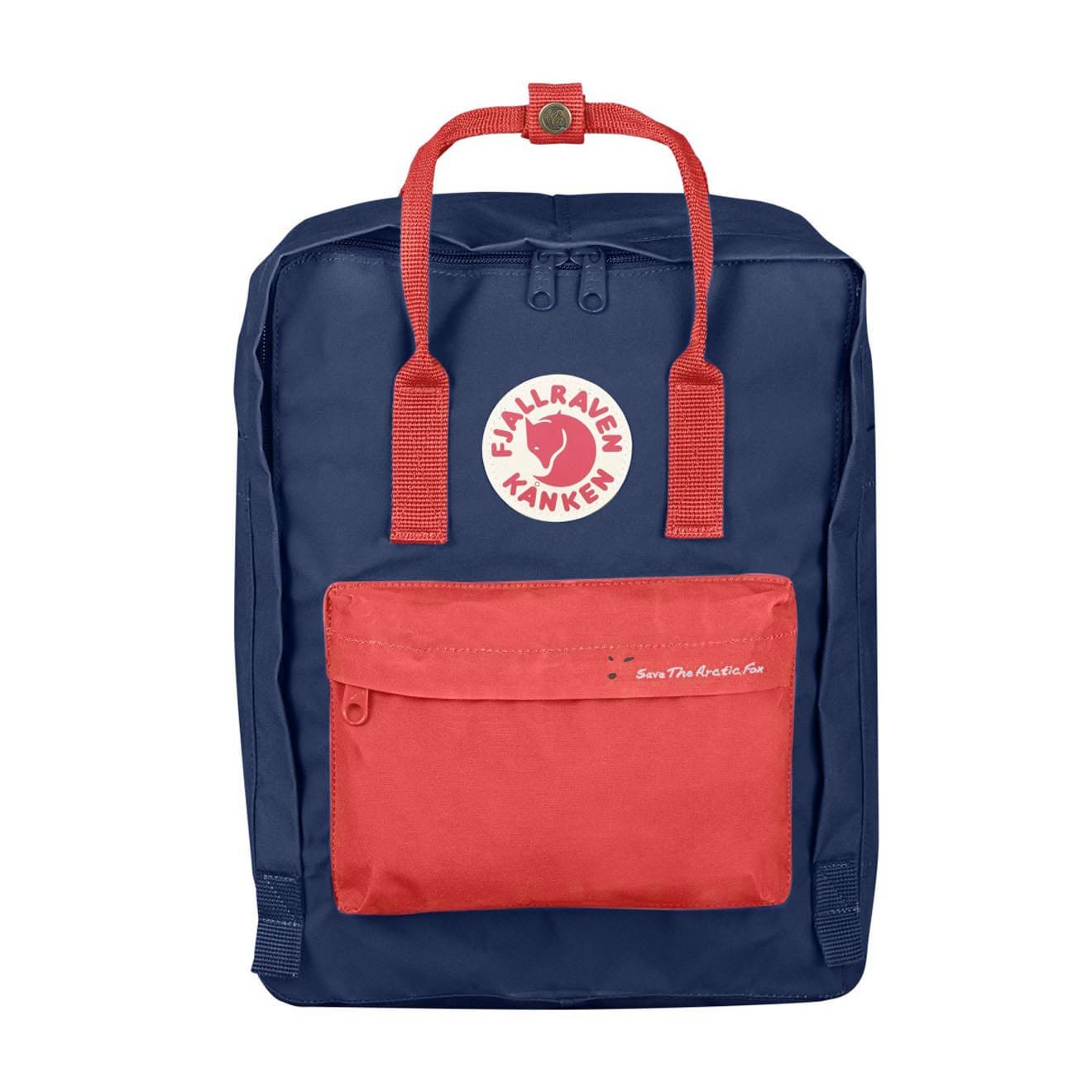 Fjallraven Kanken Royal Blue and Peach Pink 2018 Save The Arctic Fox Classic