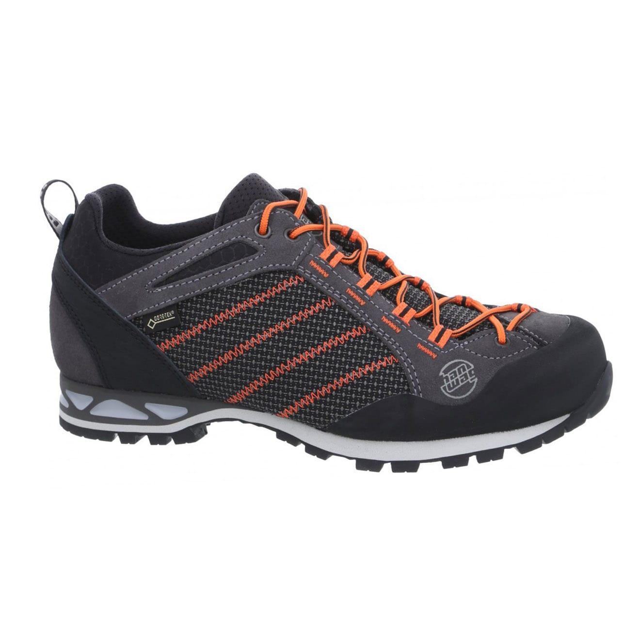 Hanwag makra low GTX boots asphalt orange