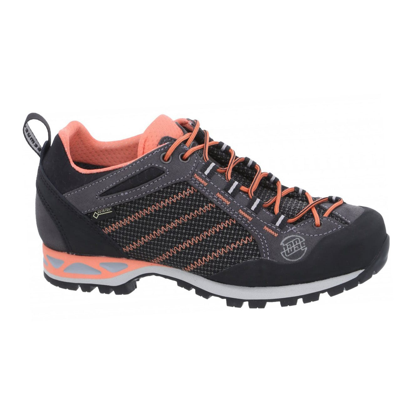 Hanwag womens makra low lady GTX boots asphalt orange