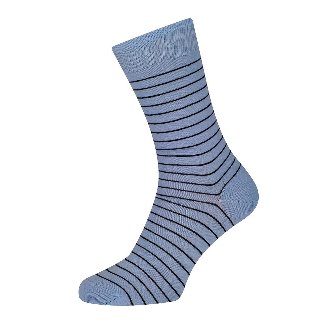 Sunspel Simple Stripe Cotton Sock