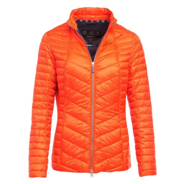 barbour lighthouse quilt signal orange