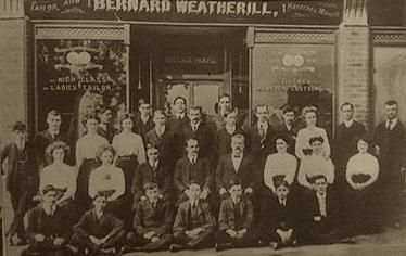Berard Weatherill Staff Photo Outside Savile Row Shop Circa 1920
