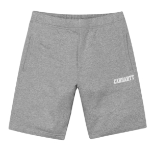 carhartt college sweat short grey heather white