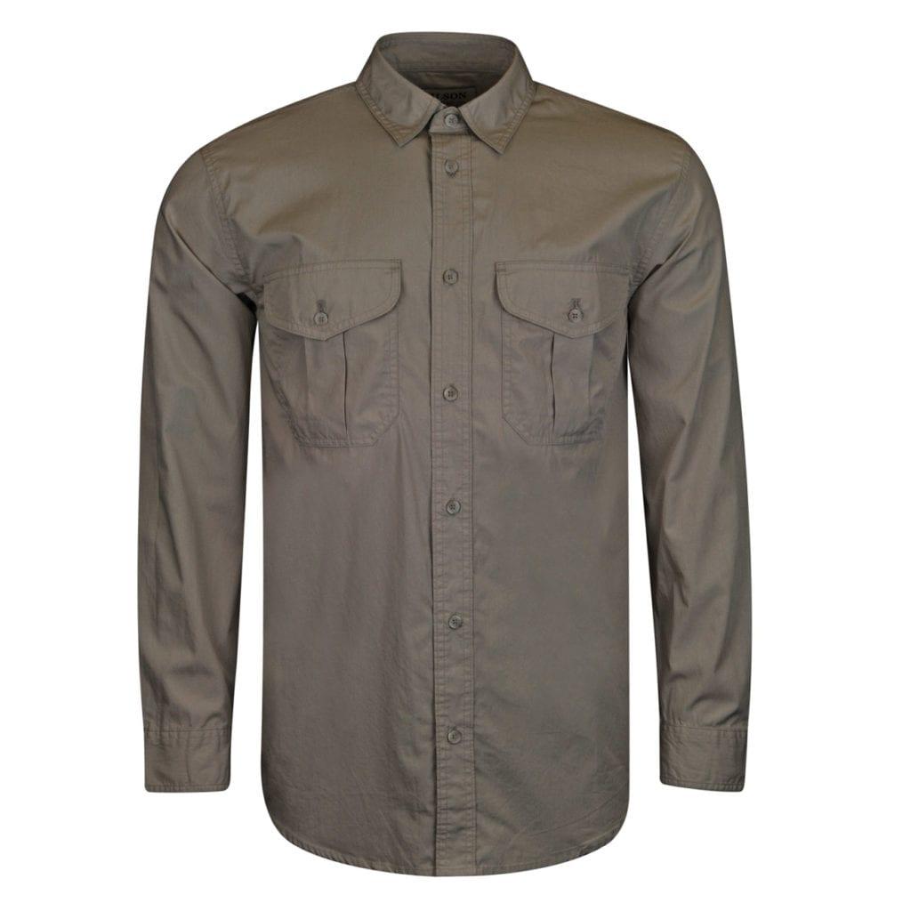 filson feather cloth shirt desert tan