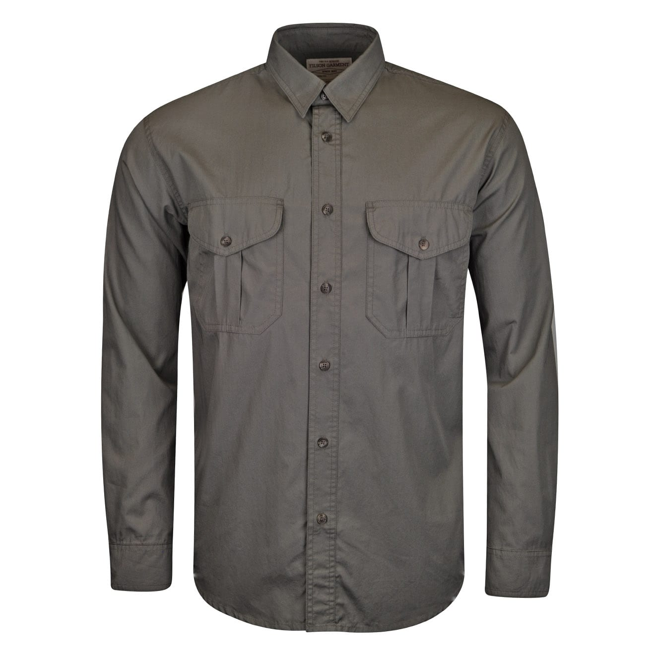 filson feather cloth shirt light olive