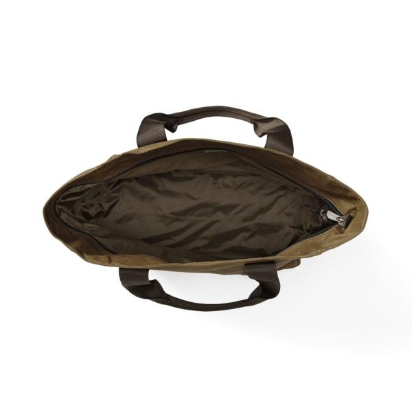 filson grab N go tote large dark tan brown