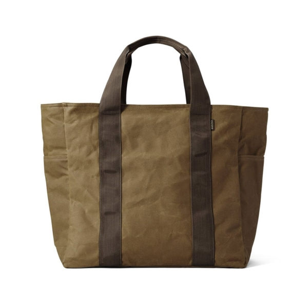 filson grab N go tote large dark tan brown