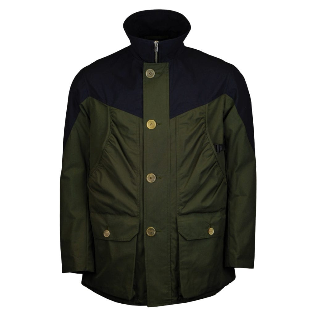 Grenfell Organic Cotton Ragley Jacket Navy Green