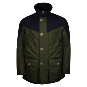 Grenfell Organic Cotton Ragley Jacket Navy Green