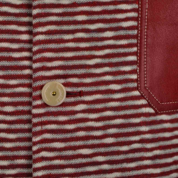 Grenfell Rydal Jacket Denim Mix Red White
