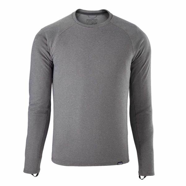Patagonia Capiline Midweight Crew Baselayer forge grey heather grey