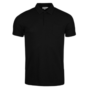 Sunspel Short Sleeve Riviera Polo Black