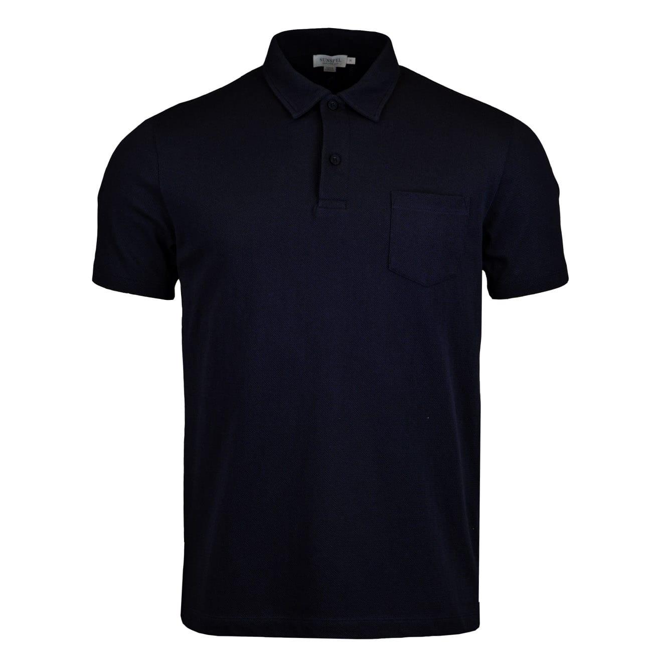 Sunspel Short Sleeve Riviera Polo Navy
