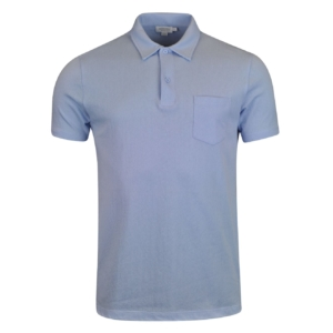 Sunspel Short Sleeve Riviera Polo Sky