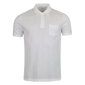 Sunspel Short Sleeve Riviera Polo White