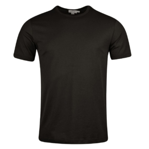 Sunspel Short Sleeve Classic Crew Neck T-Shirt Charcoal