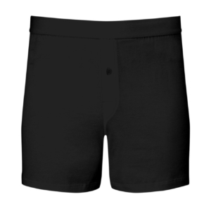 Sunspel Superfine Cotton One Button Shorts Black
