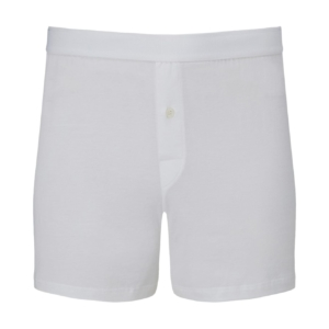 Sunspel Superfine Cotton One Button Shorts White