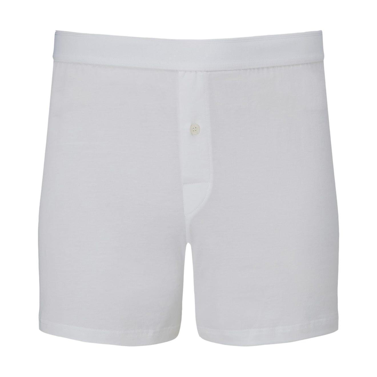 Sunspel Superfine Cotton One Button Shorts White