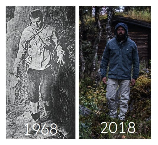 Greenland Jacket Comparison 1968 and 2018