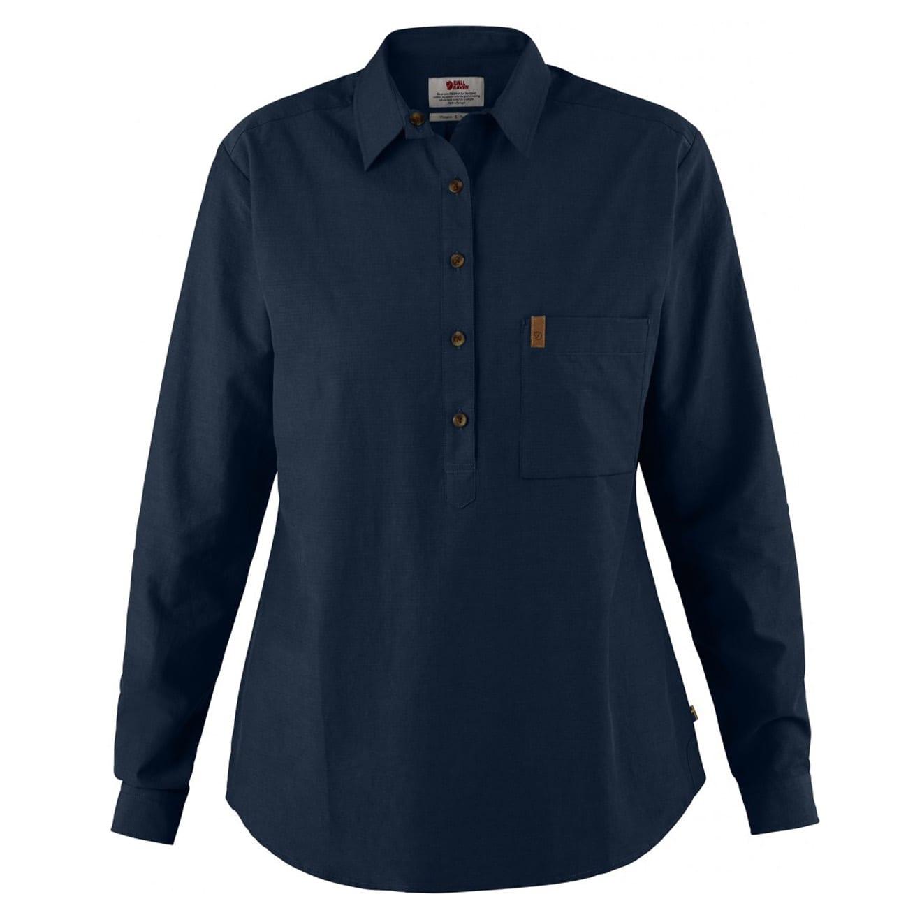Fjallraven Womens Kiruna Lite Shirt Dark Navy