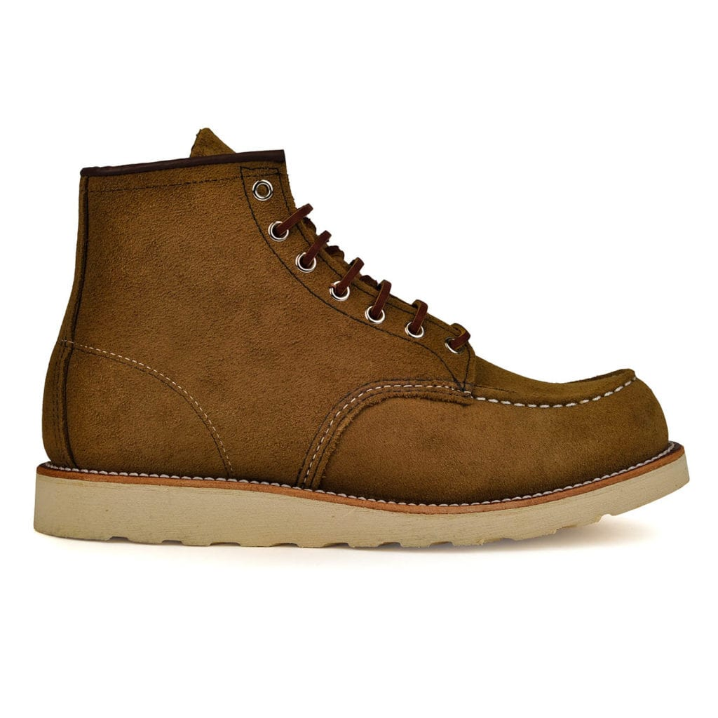 Red Wing 6inch Mocc Suede Boot Olive